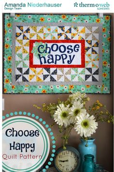 """Choose Happy"" Quilt Pattern from @JediCraftGirl"