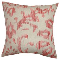 Found it at Wayfair - Ignace Ikat Cotton Pillow I like the print for guest bedroom.