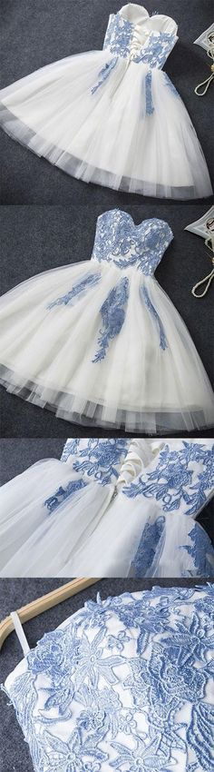 Evening Dresses 2017 New Design A-line White And Black V-Neck Sleeveless Backless Tea-length Sashes Party Eveing Dress Prom Dresses 2017 High Quality Dress Fuchsi China Dress Up Plain Dres Cheap Dresses Georgette Online Short Strapless Prom Dresses, Cheap Short Prom Dresses, Hoco Dresses, Cheap Evening Dresses, Dance Dresses, Pretty Dresses, Beautiful Dresses, Girls Dresses, Formal Dresses