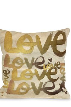 Oliver Gal by One Bella Casa Four Letter Throw Pillow