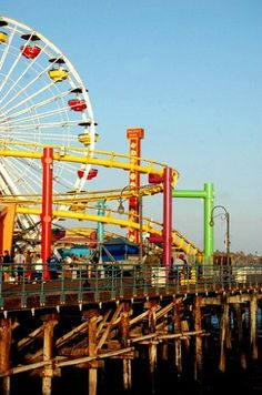 trying to get to you (Santa Monica Pier) by Amy Frost on Flickr