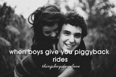 Because your AWESOME friends refuse to let him give THEM piggyback rides.
