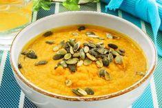 SUPPE 3: Fyldig gulrotsuppe med kikerter og appelsin. FOTO: Svein Brimi