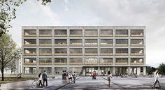 3. Preis: Perspektive Campusplatz, © Bruno Fioretti Marquez Architekten