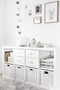 Stylish Toy Storage Ideas to Make Your Kid's Playroom Look Neat We all know that kids own a lot of stuff and never get enough of new toys—they always want more. These stylish toy storage ideas will help you organize. Ikea Storage, Storage Spaces, Storage Ideas, Playroom Storage, Storage Design, Baby Toy Storage, Basket Storage, Living Room Toy Storage, Ikea Bedroom Storage