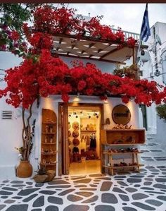 Mykonos Hotels, Mykonos Town, Mykonos Greece, Beautiful Streets, Beautiful Places, Beautiful Flowers, Santorini, Myconos, Mykonos Island