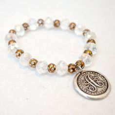 This chic monogram beaded bracelet is easy enough that you can make it even if you've never made a piece of jewelry before!