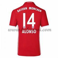 Bayern Munich Nogometni Dresovi 2016-17 Alonso 14 Domaći Dres Komplet