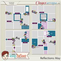 {Reflections: May} Digital Scrapbooking Template by Dagi's Temp-tations http://store.gingerscraps.net/Reflections-May.html #digiscrap #digitalscrapbooking #dagistemptations #reflectionsmay