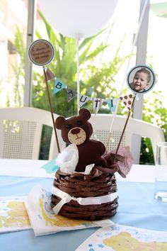 Resultado de imagen para decoracion de bautismo con osos