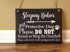 Sleeping Babies and Protective Dog Please Do Not by GAGirlDesigns