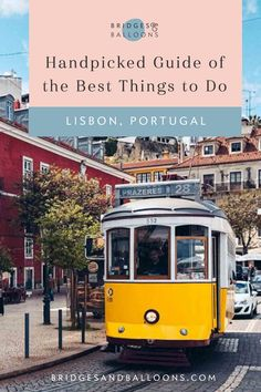 Things to do in Lisbon: A Handpicked City Guide Top Travel Destinations, Europe Travel Tips, Places To Travel, Traveling Europe, Travel Plan, Travel Guides, Portugal Travel, Spain And Portugal, Lisbon Portugal