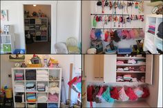 Check out this adorable prop room at a photography studio. So cute!!
