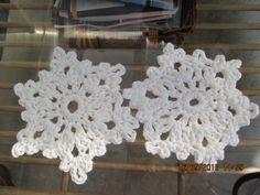 Crochet snowflake coasters