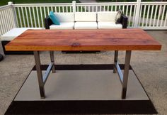 "Reclaimed Wood Dining Table - ""Fitzwater Street"""