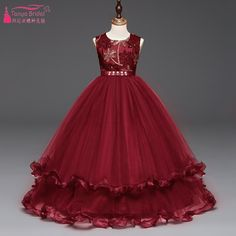 UK Girls Embroidered Princess Formal Wedding Bridesmaid Luxury Dress Gift 5-12Y