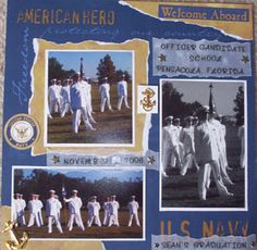 Image detail for -Scrapbook Ideas Navy Page Layout