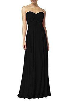Chiffon long bridesmaid dresses strapless evening dress S12 3f40898547d4