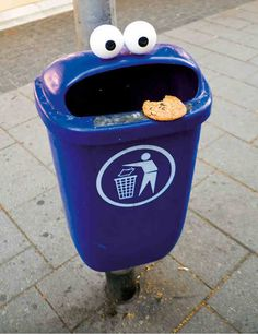 Cookie monster bin