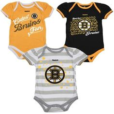 Girls Infant Boston Bruins Multi 3-Piece Creeper Set 9a95d6768