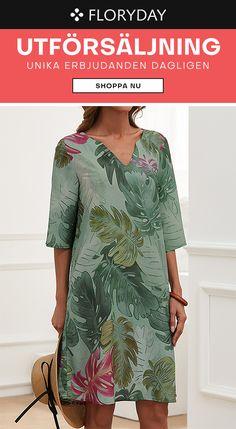 Blommiga klänningar gör dig speciell! Floryday Dresses, Dresses For Work, Party Dress, Cover Up, Suits, Casual, Shopping, Design, Style