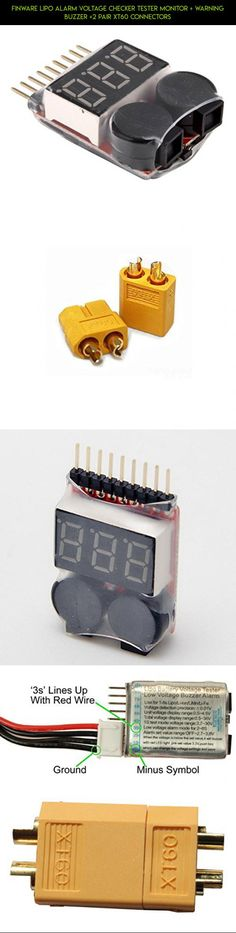 Finware Lipo Alarm Voltage Checker Tester Monitor + Warning Buzzer +2 Pair XT60 Connectors #camera #3 #drone #gadgets #yuneec #fpv #plans #tech #products #technology #racing #battery #parts #power #kit #shopping
