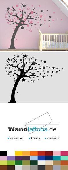 Wandtattoo Baum Mit Sternen