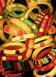 Oodles of fabulous Bakelite Bangles