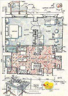 Home Decoration Accessories Hotel Floor Plan, House Floor Plans, Plan Sketch, Hotel Room Design, Color Plan, Plan Drawing, Interior Sketch, Hotel Interiors, Room Planning