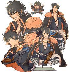 Mutsunokami Yoshiyuki, Humanoid Creatures, Mortal Combat, Anime People, Fantasy Character Design, Boy Art, Touken Ranbu, Fantasy Characters, Akira