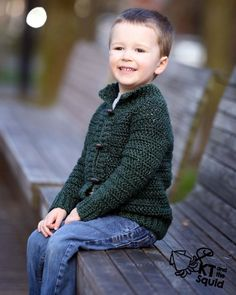 Crochet pattern, crochet childrens cardigan, boys cardigan, girls cardigan, cardigan for children, crochet, top down, zipper or button by ktandthesquid on Etsy LOVE!!