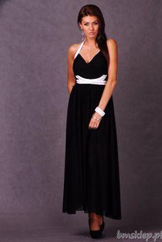 Długa sukienka z wyciętymi pleacami.... #Sukienki - http://bmsklep.pl/emamoda-dluga-sukienka-czarny-4610-3