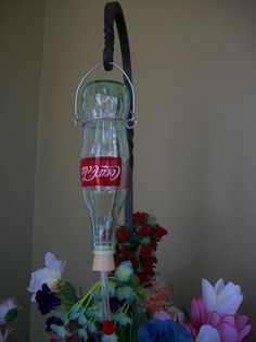 Hummingbird Feeder made from Recycled Glass by HUMbleCreations4U2C, $8.00