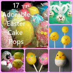 17 Adorable Easter Cake Pops #easter #cakepops