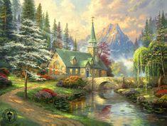 thomas kinkade paintings - Google Search