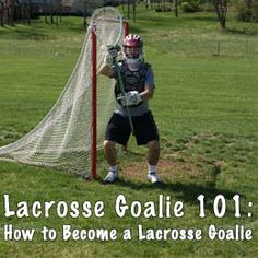 Want to learn how to be a lacrosse goalie? Here are resources on lacrosse goalie gear, lax goalie stance, lacrosse goalie workouts, goalie gloves, & more! Goalie Gear, Lacrosse Gear, Goalie Gloves, Girls Lacrosse, Lacrosse Backpacks, Lacrosse Sticks, Kids Sports, Hockey, Coaching