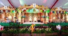 Create a fabulous setting for your wedding rituals. #indianwedding #weddinginindia #weddingdecor #weddingstage #weddingtheme #weddinglighting #flowerdecor #weddingplanner #eventplanner #traditionalwedding #traditional