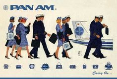 Pan Am. I liked Pan Am - shame they went bust Retro Airline, Airline Travel, Air Travel, Vintage Airline, Airline Logo, Pan Am, Vintage Advertisements, Vintage Ads, Vintage Prints