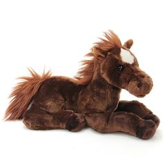 Dallas the Stuffed Brown Horse by Aurora Stuffed Toy, Stuffed Animals, Barbie And Her Sisters, Kenny South Park, Brown Horse, 70th Anniversary, Strip, Ride On Toys, Horse Girl