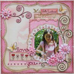 Love You **MY CREATIVE SCRAPBOOK & BO BUNNY** - Scrapbook.com Bo Bunny - Crazy Love Collection - Valentine