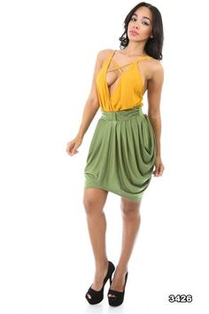 She Moves Sexy Shirring Skirt! (2 HOTT Colors) #UACollection