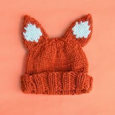 Free knitting pattern for fox hat by Sincerely Louise :