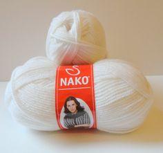 White  50 Premium Acrylic & 50 Wool yarnNako Yarn by yarnsupplies, $12.00