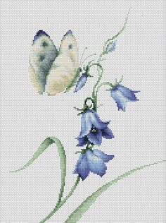 image of Summer Delight Butterfly Cross Stitch Kit Cross Stitch Pillow, Just Cross Stitch, Cross Stitch Animals, Counted Cross Stitch Kits, Ribbon Embroidery, Cross Stitch Embroidery, Embroidery Patterns, Butterfly Cross Stitch, Cross Stitch Flowers