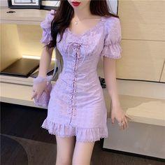 Sexy Dresses, Cute Dresses, Casual Dresses, Fashion Dresses, Cheap Dresses, Korean Girl Fashion, Ulzzang Fashion, Cute Asian Fashion, Korean Dress