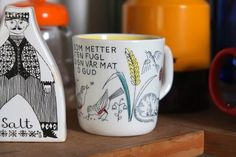 """""""Fonts and type on cups and mugs for My Stavangerflint cup"""" Stavanger, Design Museum, Norway, Scandinavian, Cups, Fonts, Sunday, Pottery, China"""