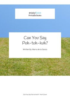 Puhtuhkuh- A Diadochokinetic Rate Practice Printable Book - Easybee Little Books, Speech And Language, Speech Therapy, Book Series, Puns, The Book, Printables, Student, Writing