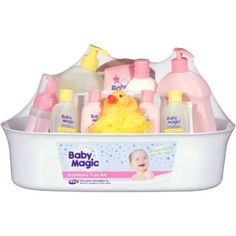 Baby Magic Bath Time Fun Kit - Includes shampoo, body wash, lotion and many more things