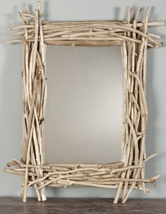 How to make a cool twig mirror from iVillage @totgreencrafts #DIY #Upcycle
