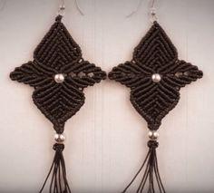 Black Orchid Macrame Earrings | AllFreeJewelryMaking.com
